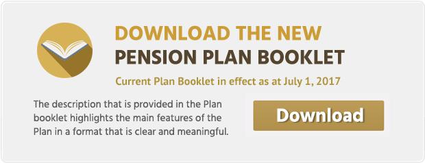 pension plan booklet download